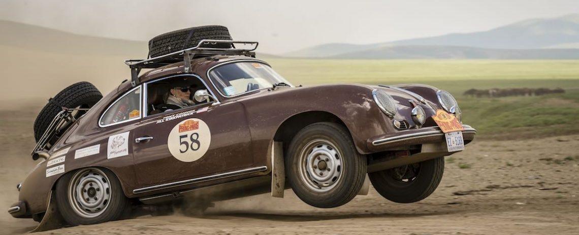 Car 58. Tony Connor(USA) / Jill Kirkpatrick(USA)1956 - Porsche 356A 1600, Peking to Paris 2016., Peking to Paris 2016. Day 06. Ulaan Baatar - Bulgan