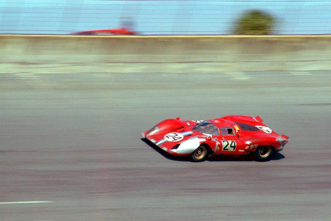 Ferrari 312 P driven by Sam Posey and Mike Parkes finished 4th at the 1970 Daytona 24 Hours (photo: Autosports Marketing Assoc.)