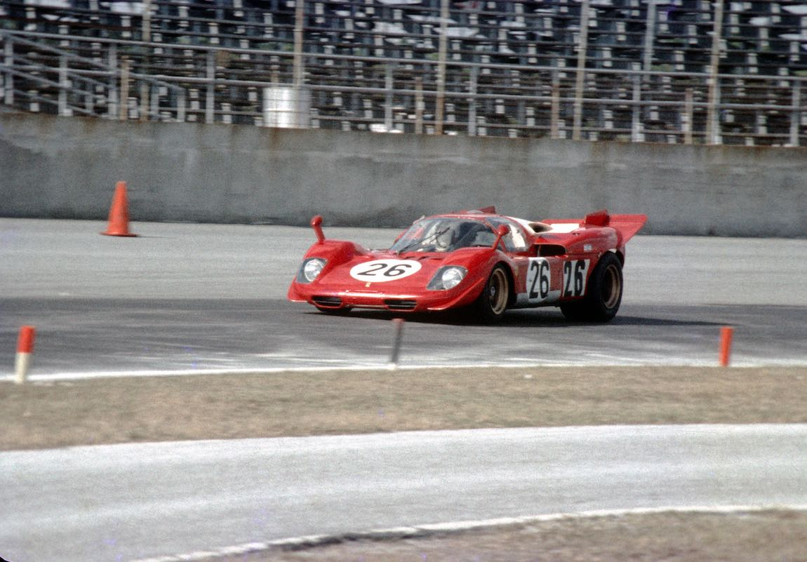 Ferrari 512 S of Nino Vaccarella and Ignazio Giunti did not finish at the Daytona 24 Hours in 1970 (photo: Autosports Marketing Assoc.)