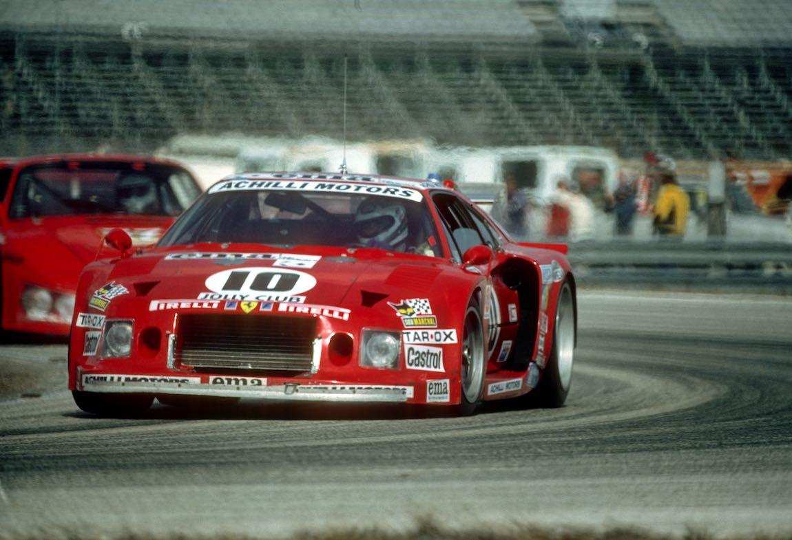 Ferrari 308 GTB Turbo of Carlo Facetti and Martino Finotto failed to finish at the 1981 Daytona 24 Hours (photo: Autosports Marketing Assoc.)