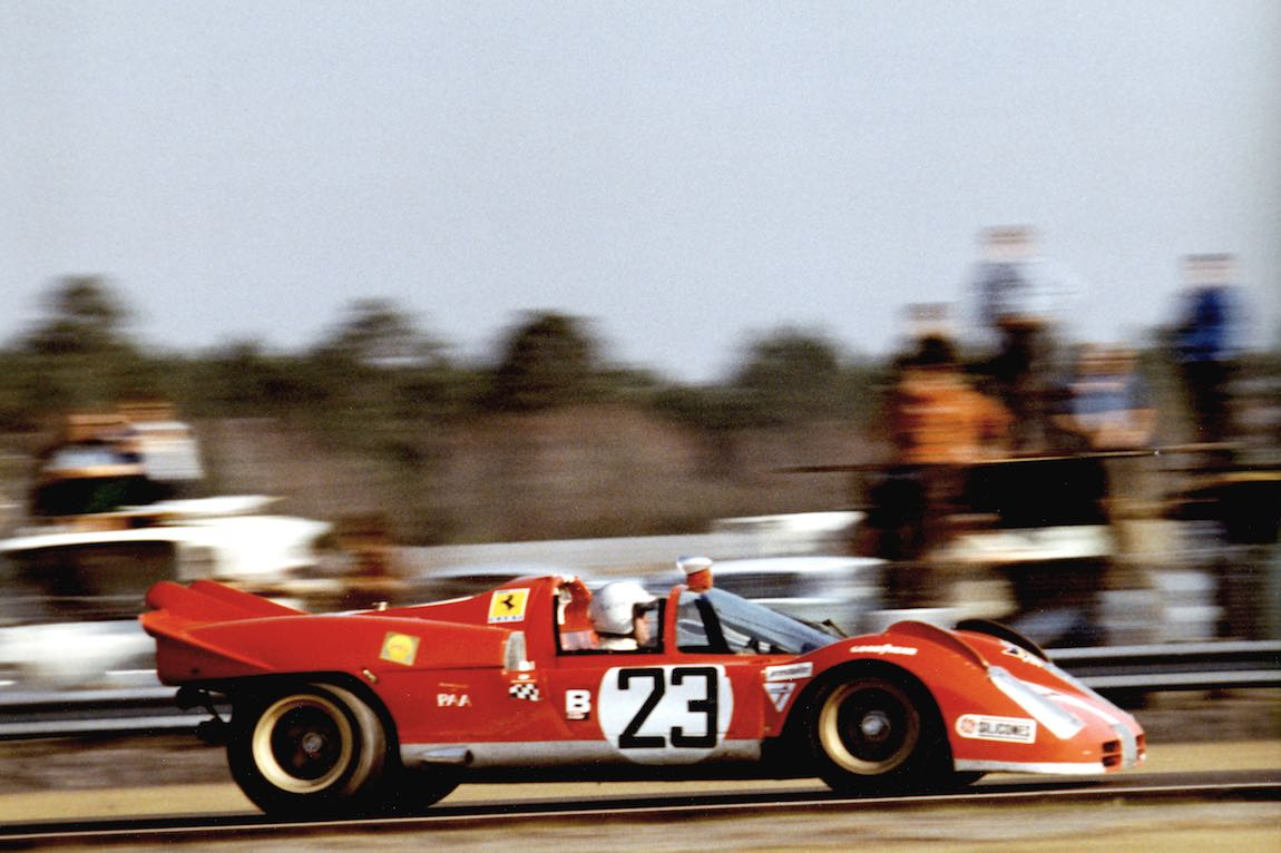 N.A.R.T. Ferrari 512 S Spyder finished second at 1971 Daytona 24 Hours driven by Ronnie Bucknum and Tony Adamowicz (photo: Ferrari)