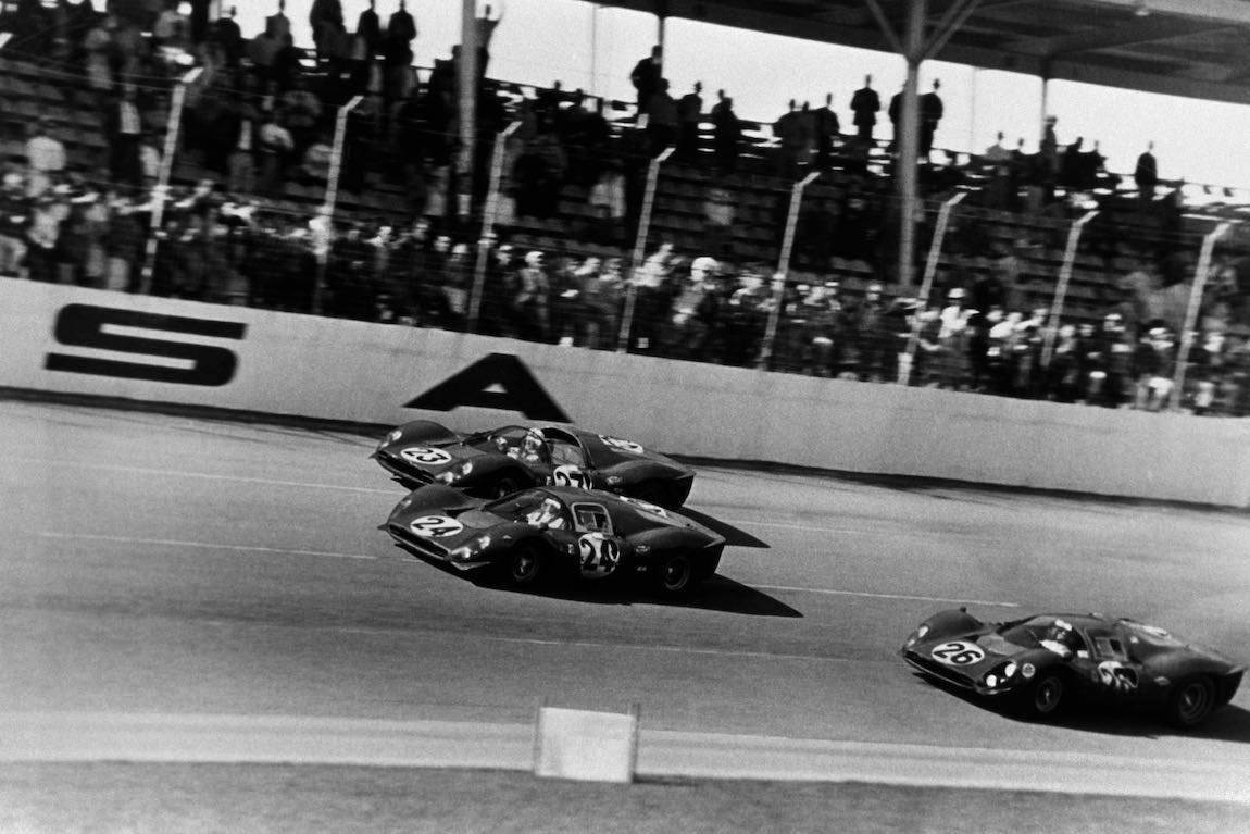 1-2-3 Ferrari finish at the 1967 Daytona 24 Hours (photo: Ferrari)