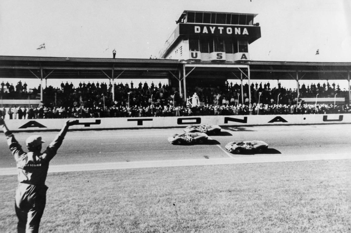 1-2-3 Ferrari finish at the 1967 Daytona 24 Hours (photo: Ferrari)