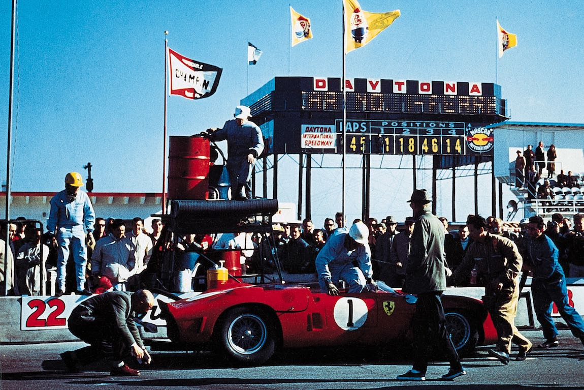 N.A.R.T. Ferrari Dino 246 SP of Phil Hill and Ricardo Rodriguez finished 2nd at Daytona 3-Hour Continental in 1962 (photo: Ferrari)