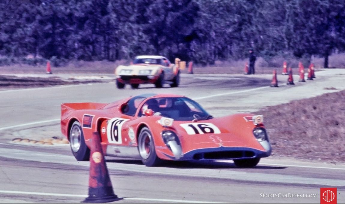 Bobby Rinzler and Clive Baker drove the other Ring Free car at Sebring (Photo: Ken Breslauer)