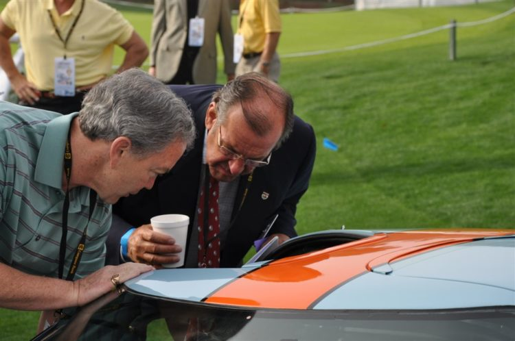 David Hobbs reacquaints himself with the 1968 Ford GT40 Mk II Chassis 1074