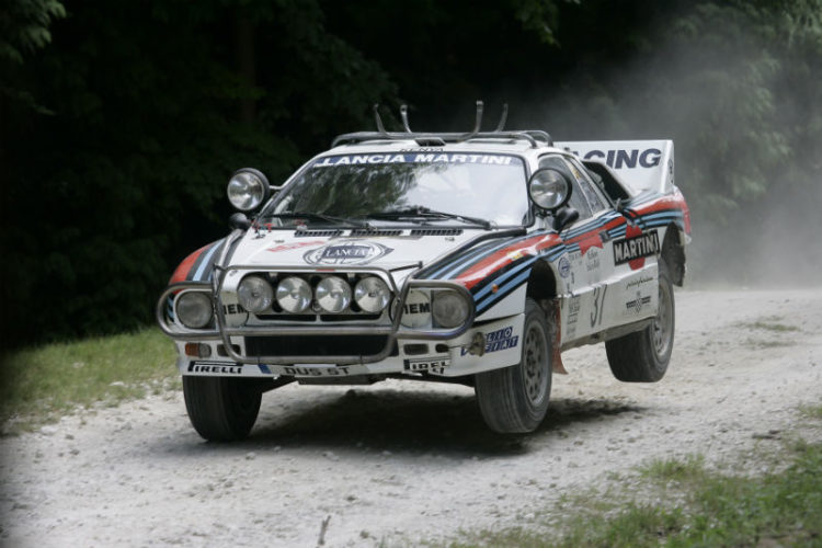 Lancia Rallye 037 on the Forest Rally Stage