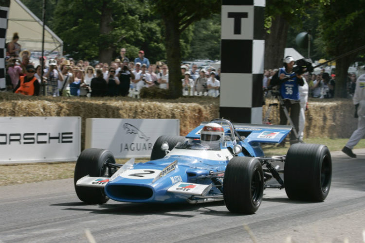 Sir Jackie Stewart in the Matra-Cosworth MS10