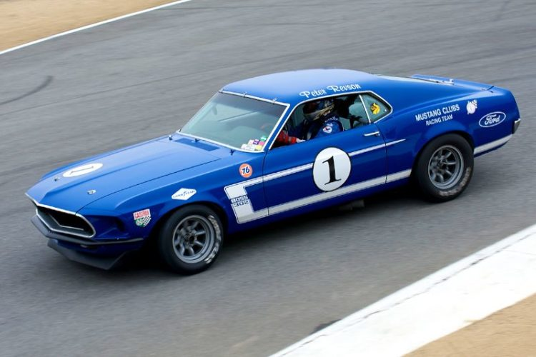 1969 Ford 302 Boss Mustang driven by Jim Click.