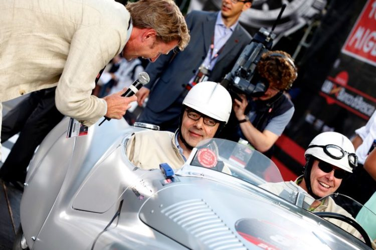 Rowan Atkinson in 1939 BMW 328 Mille Migla Roadster