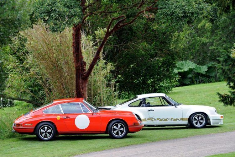 Porsche 911R and Porsche 911 RSR