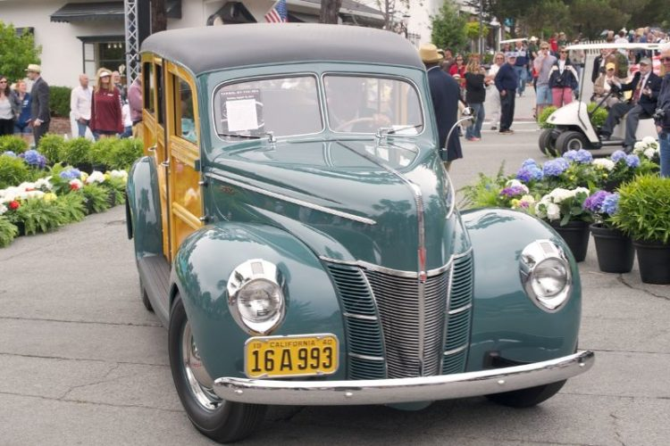 1940 Ford Deluxe Type 79B Station Wagon. Owner driver Don Orosco.