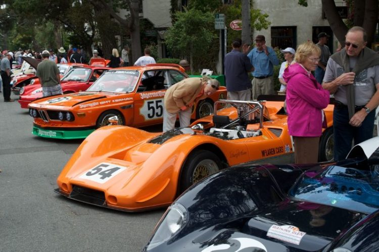 The crowds were drawn to the competition cars.