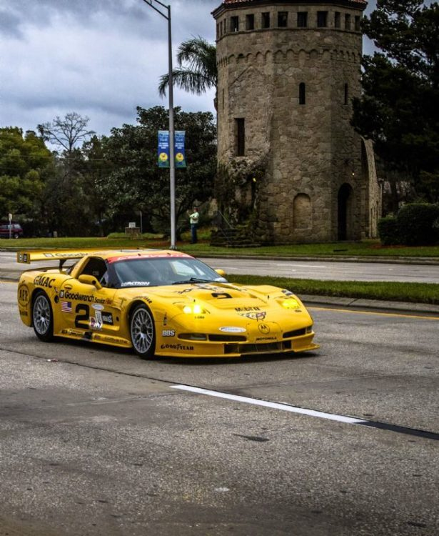 Chevrolet Corvette C5-R, winner of the 2001 24 Hours of Daytona with Ron Fellows, Franck Freon, Chris Kneifel and Johnny O'Connell (Rolex/Tom O'Neal)