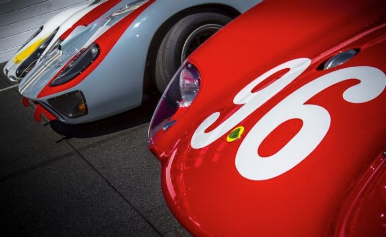 Front row of the 50th anniversary parade at the 2012 Daytona 24 Hours (Rolex / Stephan Cooper)
