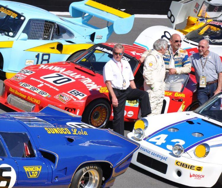 (L-R) Hurley Haywood, Brian Redman and Bobby Rahal