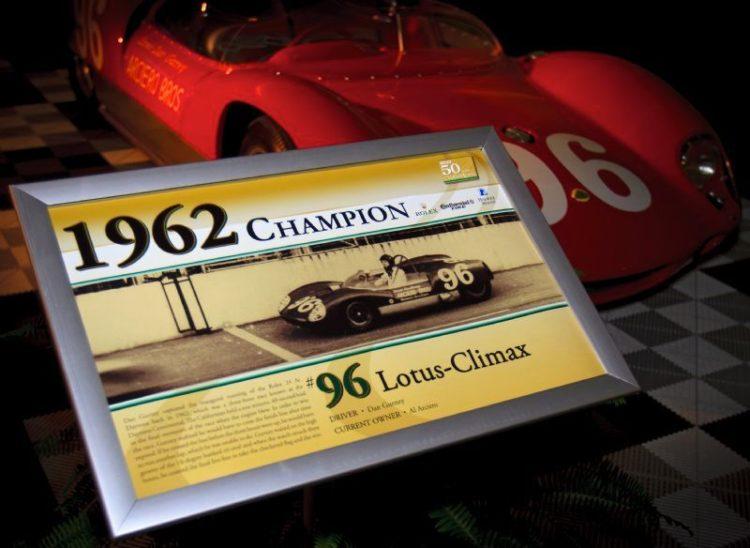 1962 Daytona Continental winner, Lotus-Climax of Dan Gurney (Rolex / Stephan Cooper)