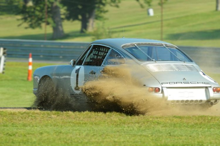 Roger Werner plows the field with his 1965 Porsche 911.