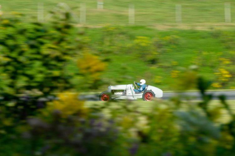 Ben Bragg running his 'Old Grey Mare' around the Park.