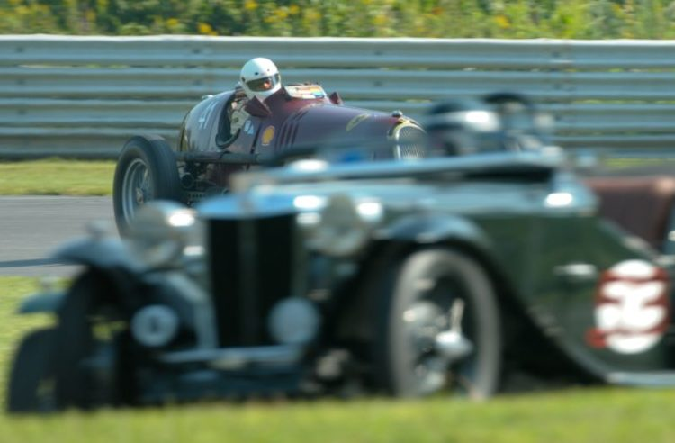Peter Greenfield in his mighty 1935 Alfa Romeo 8C35.