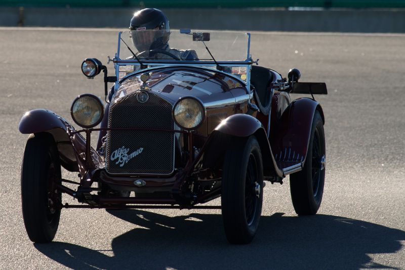 Alfa Romeo 6C 1750GS driven by Rick Rawlins in The Corkscrew.