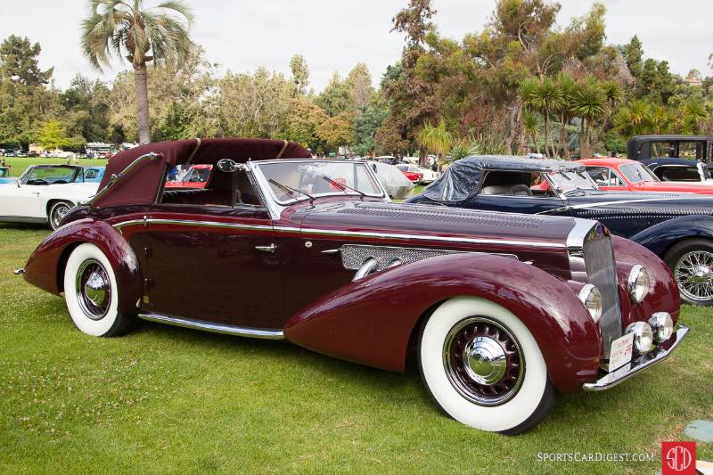 1937 Delage D8-120 Cabriolet By Chapron, owned by Peter & Merle Mulin