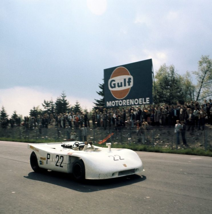 1970, Nürburgring (1,000 kilometre), Porsche Type 908/03 Spyder No. 22 (overall winner), Drivers: Vic Elford and Kurt Ahrens.