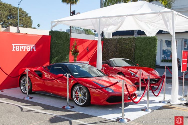 Ferraris on display - 488 GTB, California T