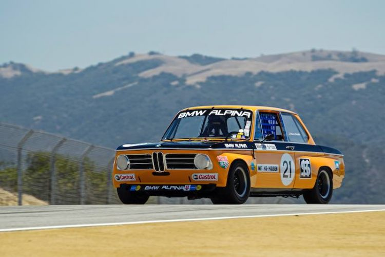 1971 BMW Alpina 2002ti to race at the Rolex Monterey Motorsports Reunion 2016.