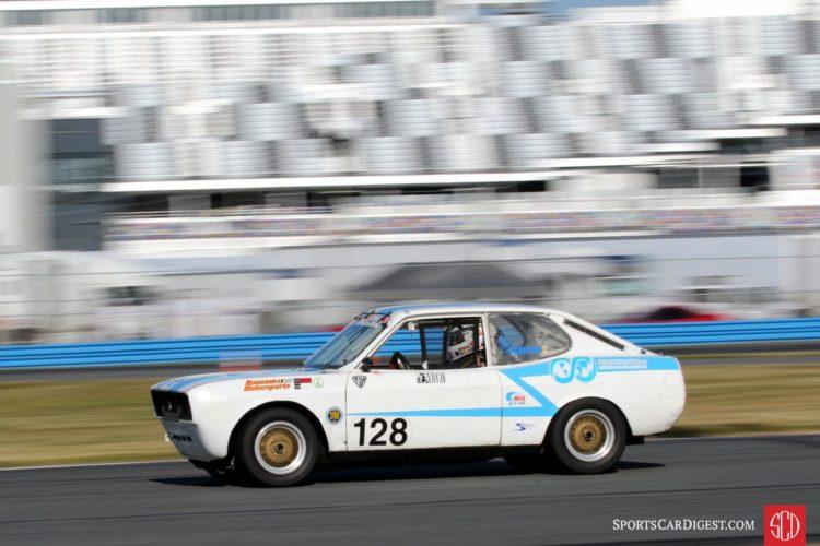 Shea Brown having fun in his 74 Fiat 128.