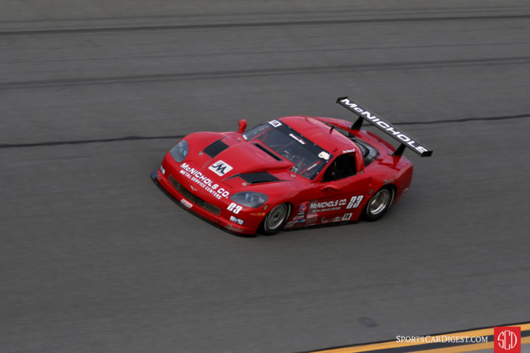 Amy Ruman on her way to winning her race and her second consecutive Trans Am championship.
