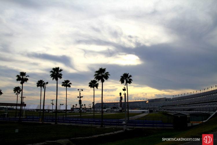 The Sun sets over Daytona.