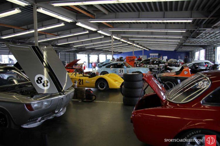 A busy garage.