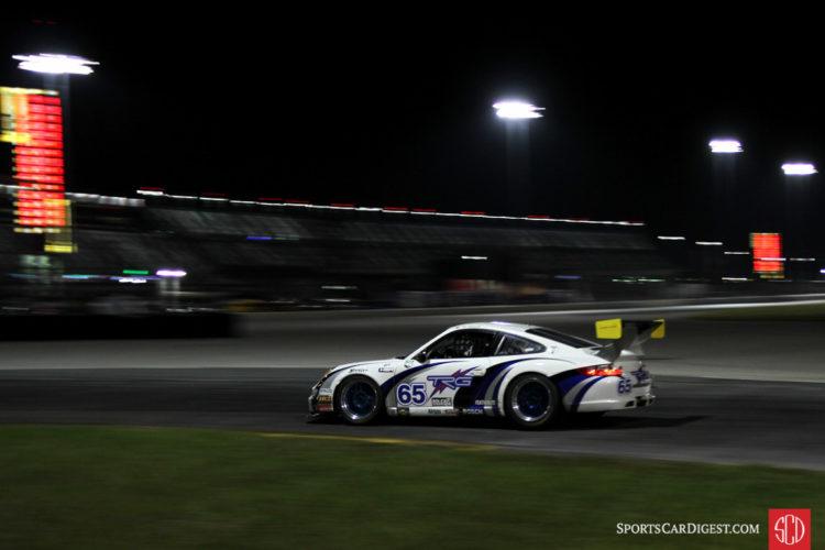 Don Ondrejcak, 07 Porsche 997 Cup racing under the lights.