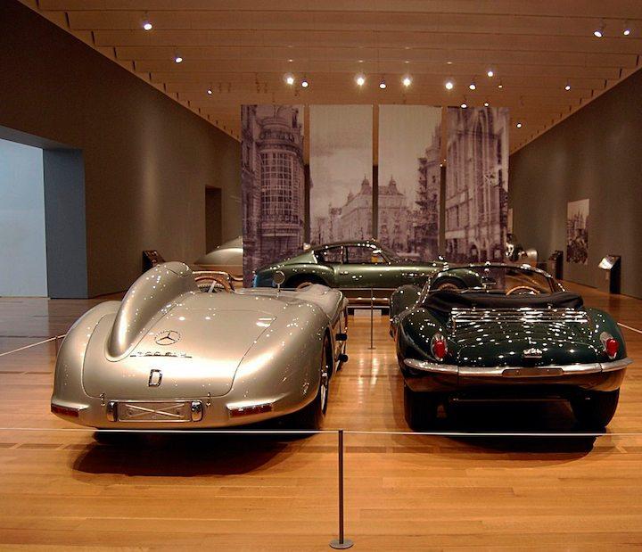 1955 Mercedes-Benz 300SLR (W 196 S) and 1957 Jaguar XKSS Roadster
