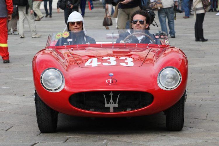 Maserati 150S prepares to leave Brescia