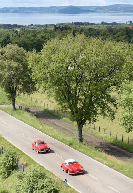 1955 Porsche 356 Speedster 1500 and 1955 Alfa Romeo Giulietta Sprint