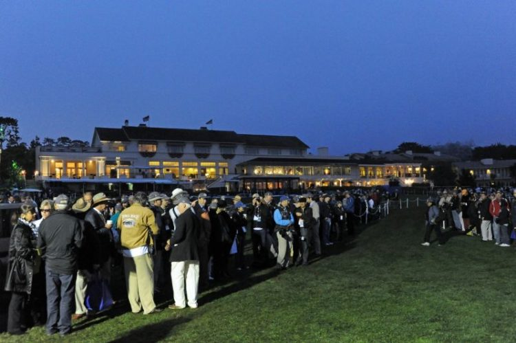 Pebble Beach Concours Early Morning Scene