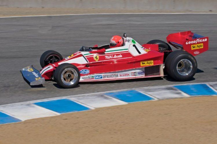 1976 Ferrari 312 T2 of Chris MacAllister, ex-Niki Lauda.
