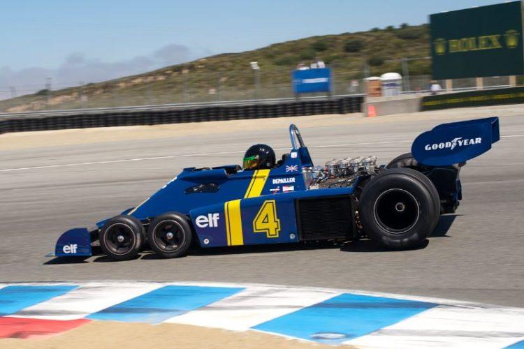 Craig Bennett in his fast 1976 Tyrrell P34.