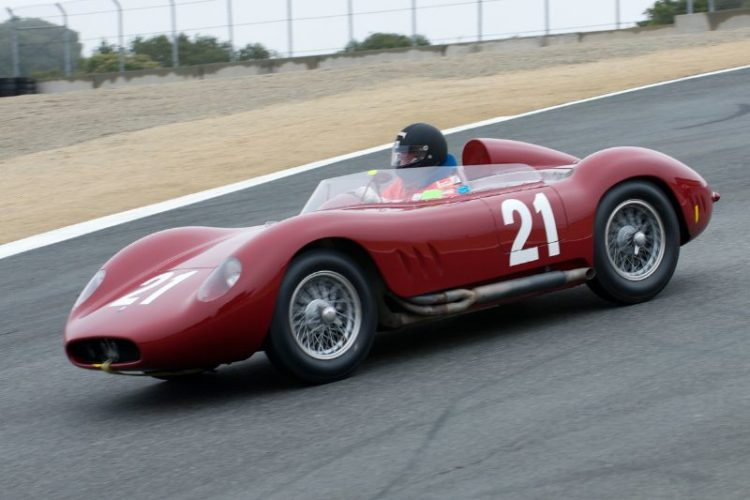 Tom Price in his 1957 Maserati 200/250Si.