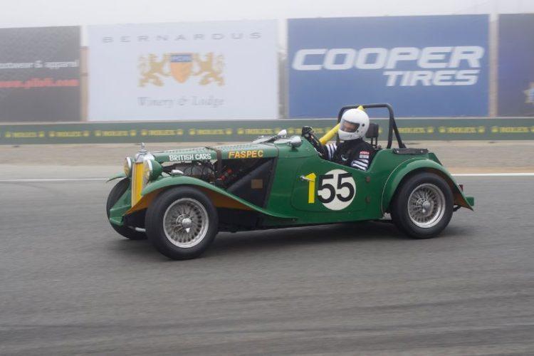 Karim Marouf in  his quick 1951 MG TD.