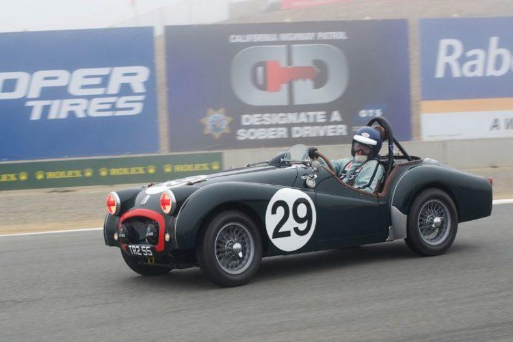 David Nelson in his 1955 Triumph TR2.