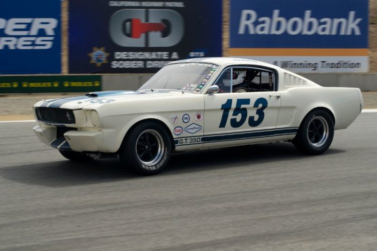 Fastest of the Shelby 350 GTs, Jim Halsey in his 1965 model.