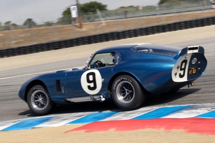 Walton's 1965 Cobra Daytona Coupe in turn 11.