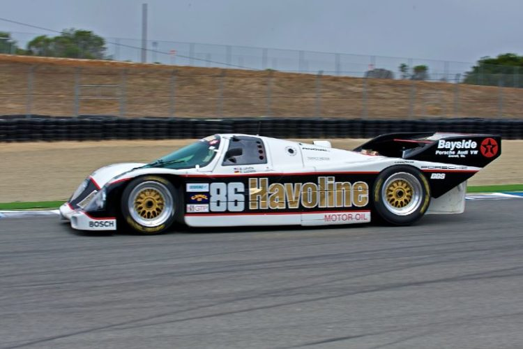 Jerry Molitor accelerates out of turn eleven in his 1986 Porsche