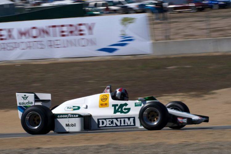 Erich Joiner in his 1983 Williams FW 08C.