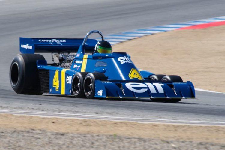 1976 Tyrrell P34 driven by Craig Bennett in turn five.