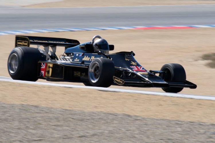 Chris Locke in his 1976 Lotus 77.