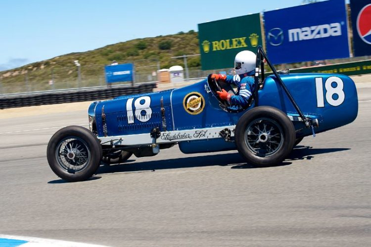 Kevin Pitts takes the 1932 Studebaker Indy Car around eleven.